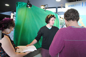 Green Screen with Almost Human at WSD 2013